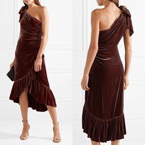 Ulla Johnson | Elisa One Shoulder Velvet Dress